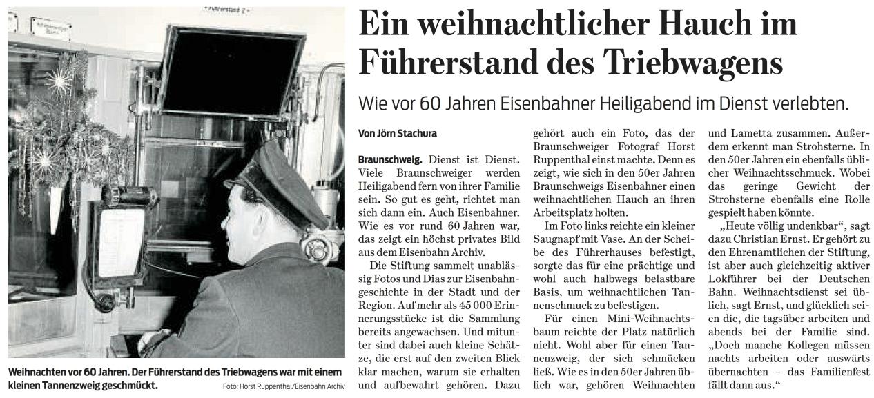 Braunschweiger Zeitung 23.12.2017