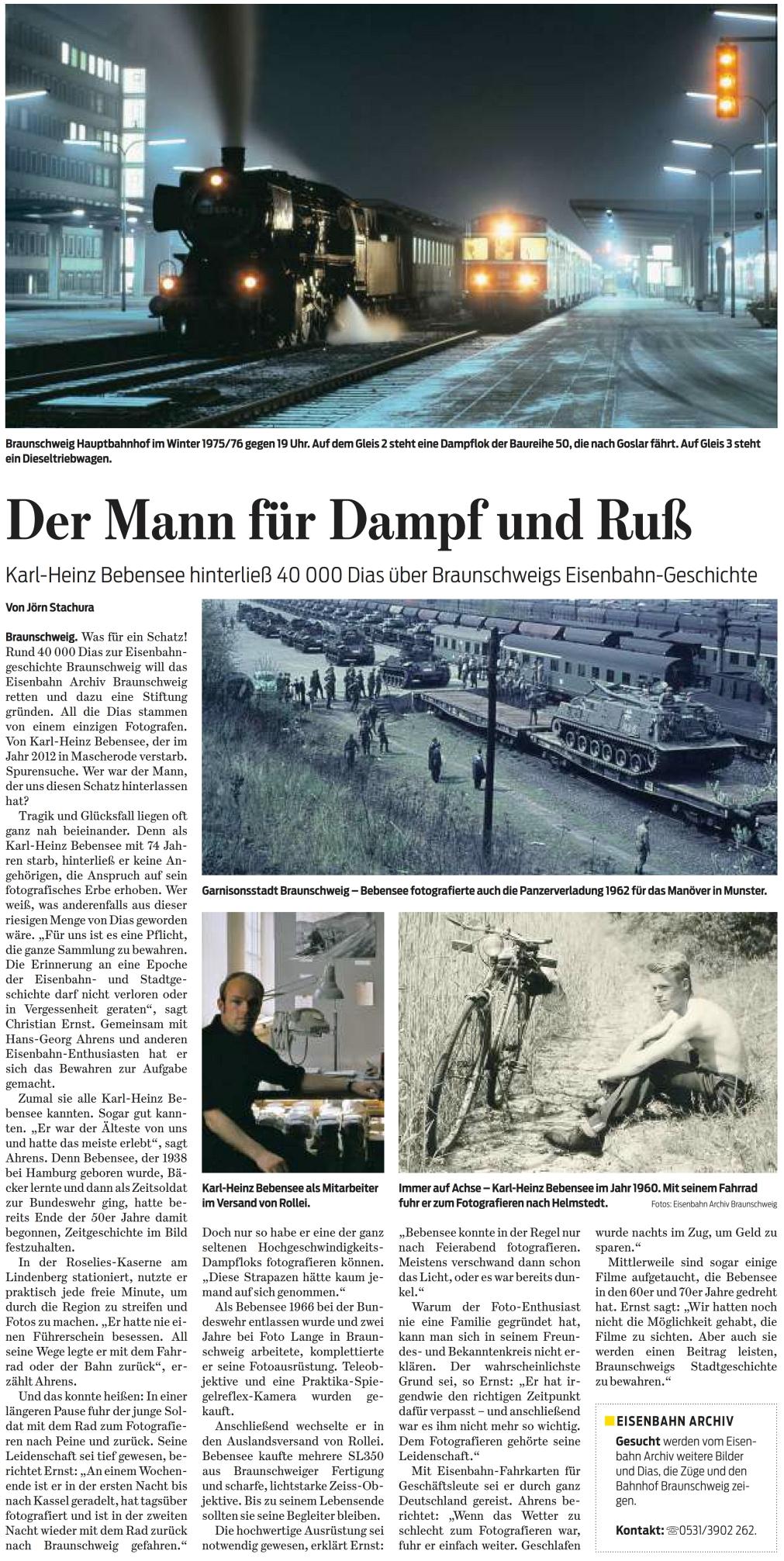 Braunschweiger Zeitung 30.07.2016