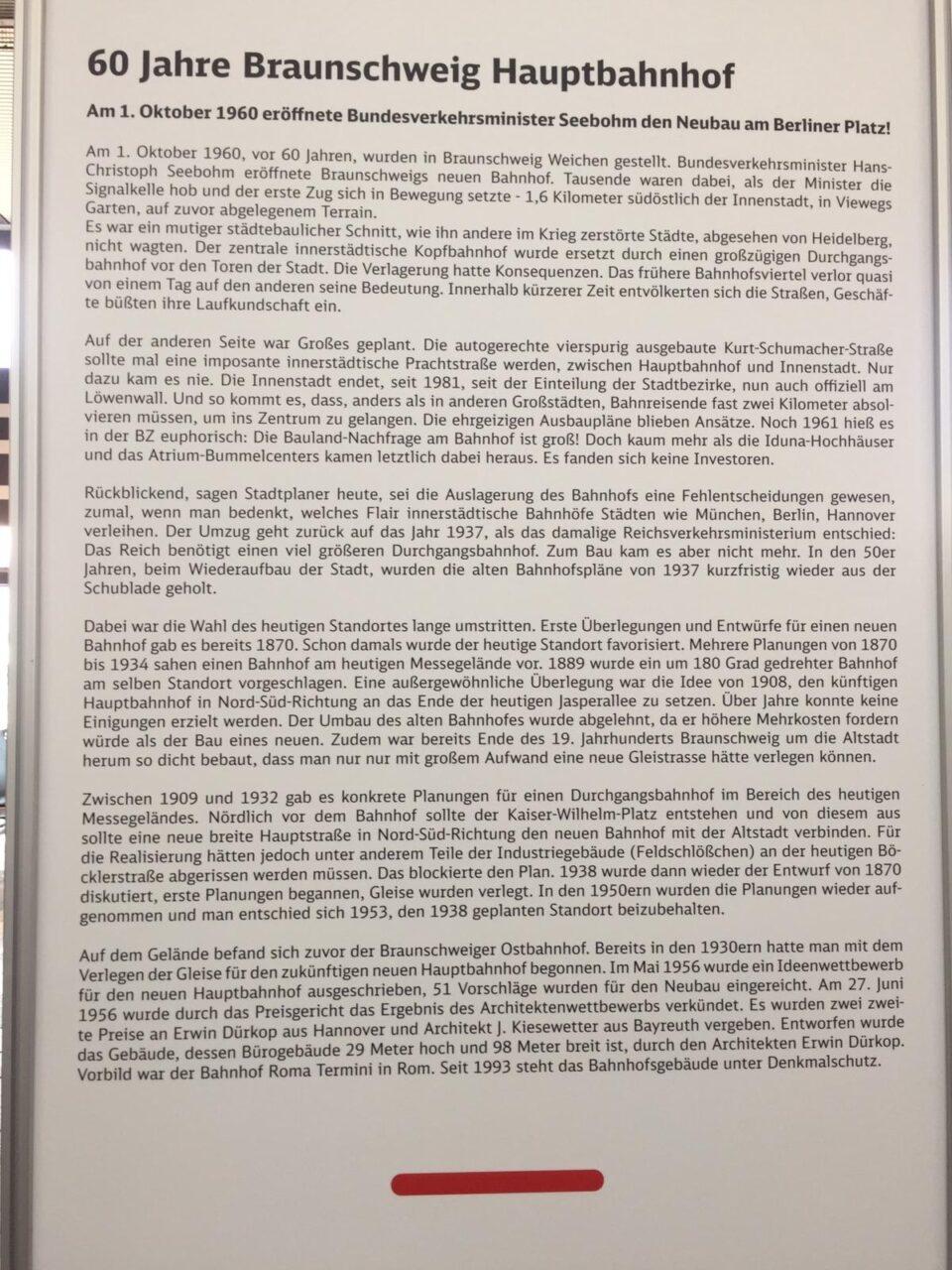 60 Jahre Hbf Braunschweig